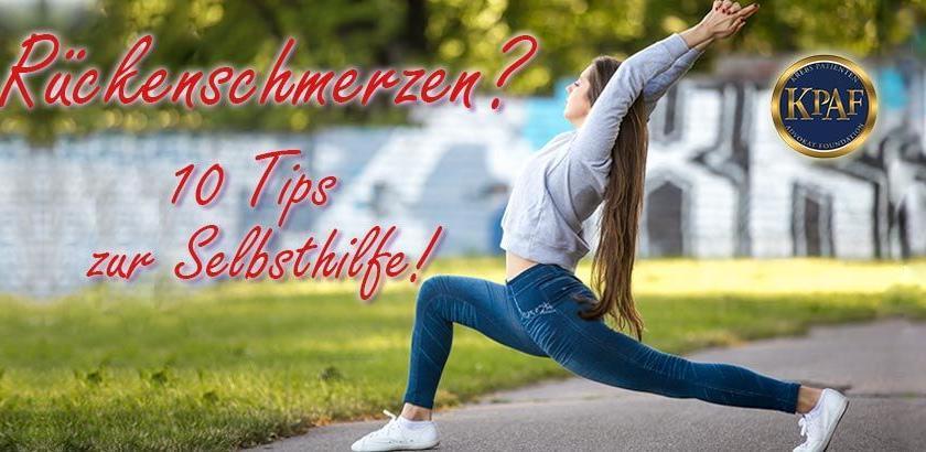 Effektive Sofortmaßnahmen gegen Rückenschmerzen! Sofort..
