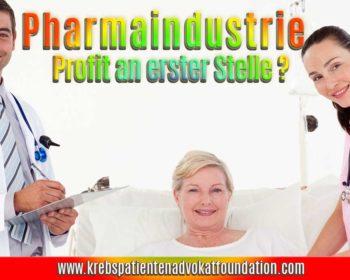 Pharmaindustrie: Profit an erster Stelle?