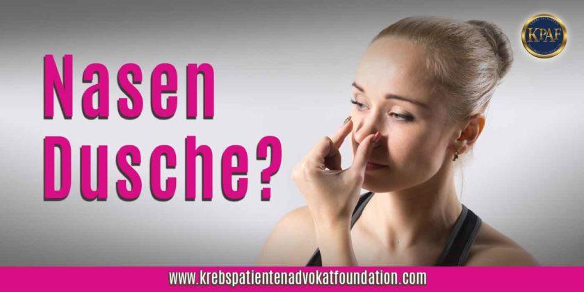 KPAF® Header Bild Nasendusche www.krebspatientenadvokatfoundation.com